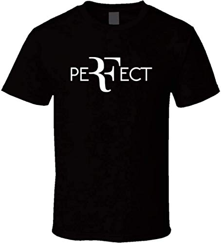 Perfect RF Roger Federer Wimbledon Tennis T-Shirt BlackXXL