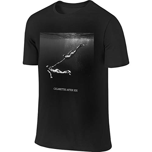 KJJO Aheahial Cigarettes After Sex Home Men's Cotton Sport Short Sleeve T-Shirt Black 3X-Large Gifts