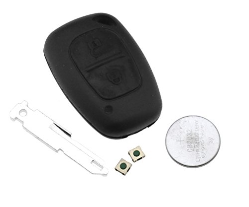 Coque de clip clé télécommande à 2 bouton pour Renault Trafic Vivaro Master Kang
