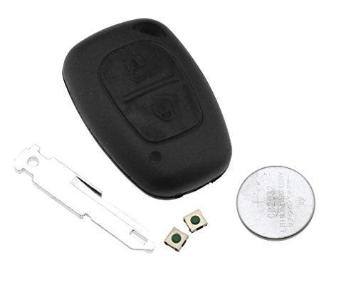 Schlüsselgehäuse für Funkschlüssel, mit 2 Knöpfen. Für Renault Trafic, Vivaro, Master, Kangoo