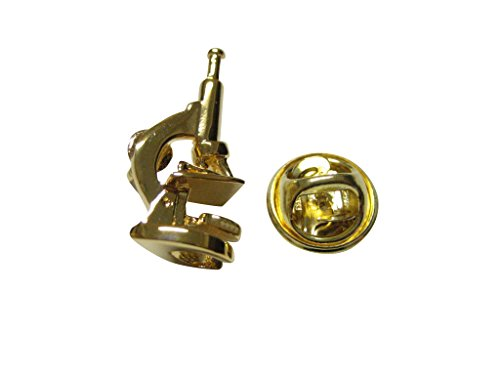 Kiola Designs Gold Toned Scientific Microscope Lapel Pin