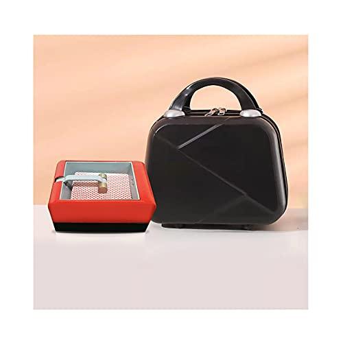 Zapato de negociación de póquer, dispensador de naipes de póquer, máquina de licencia automática portátil con caja de almacenamiento, se adapta a la mayoría de los tipos de naipes(Size:A,Color:rojo)