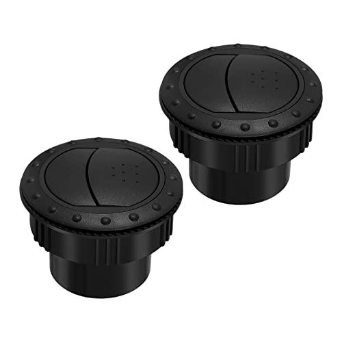 ZHUQIANG Garneck 2pcs 60mm Dashboard de Salida de ventilación de Aire Aire Acondicionado Deflector Ajuste Ajustado Ajuste for Auto RV ATV A1176 (Negro)