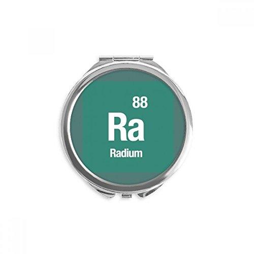 DIYthinker Ra-Radium Chemical Element Wissenschaft Spiegel Runde bewegliche Handtasche Make-up 2.6 Zoll x 2.4 Zoll x 0.3 Zoll Mehrfarbig