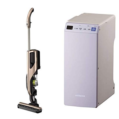 【セット販売】日立 掃除機 スティッククリーナー(コードレス式) 軽量&強力吸引 自走式スマートヘッド 自立構造 PV-BD700 N+布団乾燥機HFK-VL1 V