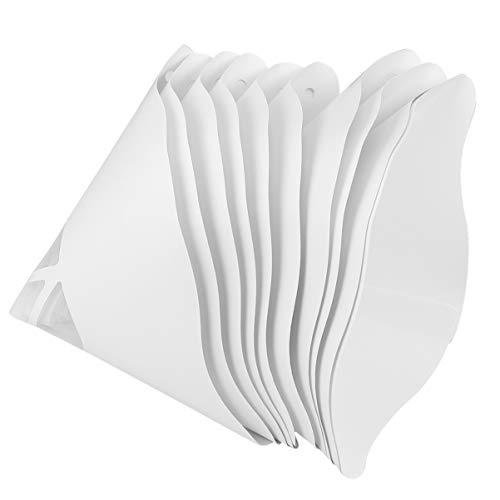 UKCOCO 10 unidades de filtro de embudo de Sla material de consumo, filtro de papel reciclado, cono embudo, papel desechable, filtro de aceite, papel 3d, accesorios de impresora (blanco)
