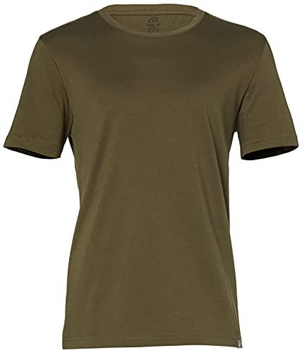 CARE OF by PUMA Camiseta de manga corta para hombre, algodón, cuello redondo, Verde (Green), L, Label: L