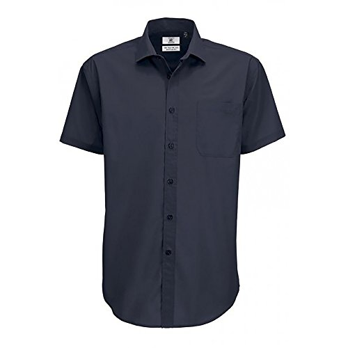 B&C - Camisa de Manga Corta Modelo Smart (Tallas Grandes) para Hombre Caballero - Fiesta/Trabajo/Eventos Importantes