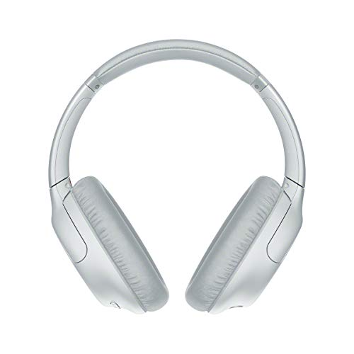 Sony WHCH710NL - Auriculares inalámbricos Noise Cancelling (Batería 35 h, Carga rápida, Llamadas Manos Libres, diseño Compacto Alrededor de la Oreja, óptimo para Trabajar en casa), Blanco, Adaptable