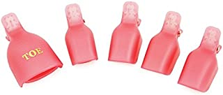 KADS 5pcs/pack Acrylic Nail Art Polish Remover Wrap Cleaner Superior Clip Caps for Toe