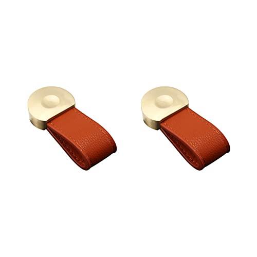 SZ-LY Perillas De Cuero De Cobre, Manijas De Hardware De Latón Macizo Dorado, Adecuadas para Cajones, Cajones, Cómodas, Tiradores De Armario (2 Piezas)