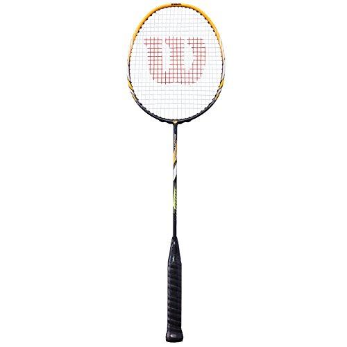Wilson Badminton-Schläger, Recon P1600, Unisex, Griffstärke: 4, Gelb/Schwarz, Kopflastig, WRT8768004