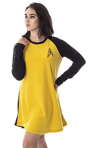 Star Trek Original Series Women's Juniors Costume Raglan Sleep Shirt Nightgown Pajama Top (Kirk, SM) -  Intimo, STK0037RGLW-SM