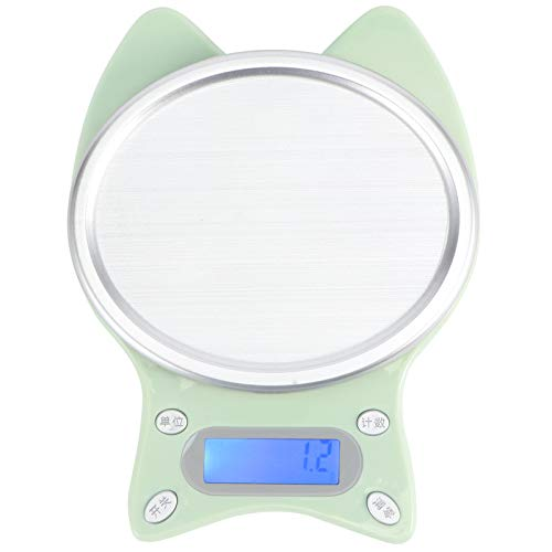 Haofy Báscula Digital para Alimentos, báscula de Cocina pequeña con Pantalla LCD, báscula electrónica para cocinar y Hornear, con Alta precisión
