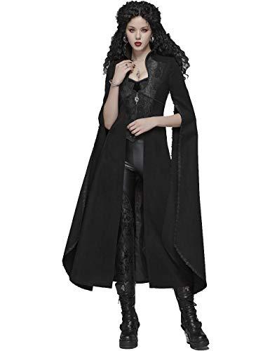 Punk Rave Abrigo largo gtico de lana para mujer, estilo steampunk, retro, fiesta, club, Halloween, disfraz de vampiro, gabardina