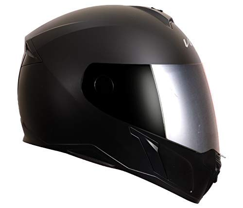 Vega Evo BT Bluetooth Helmet (Dull Black, L)