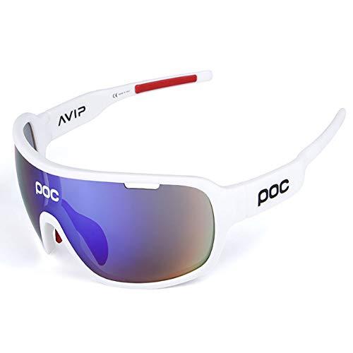 HUIHUAN Sonnenbrille Ultraleichte polarisierte Sonnenbrille für Männer und Frauen Outdoor-Sportbrillen 100% UV-Schutz,white