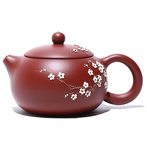 PIANAI Famosa Olla de Arcilla púrpura Dahongpao/Olla Xishi fragante Oscura Hecha a Mano/Juego de té de Viaje de Tetera de Ciruela