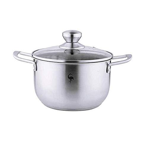 SHYPT Tragbarer Thick Doppel Ohr Steamer Suppentopf, Glas Edelstahl, Composite Multi-Layer-Bottom, Universal Küche...