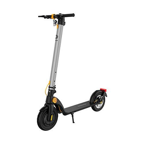 TREKSTOR e.Gear EG40 E-Scooter mit Straßenzulassung (eKFV), 350 W Motor, austauschbare 230,4 Wh Batterie, 20 km Reichweite, 10 Zoll Luftreifen, Scheibenbremse, nur 14,2 kg, 120kg Tragkraft, Klappbar