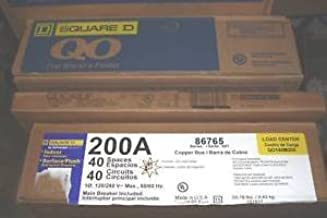 Square D QO140M200 Electrical Panel Load Center w/Generator Transfer Switch