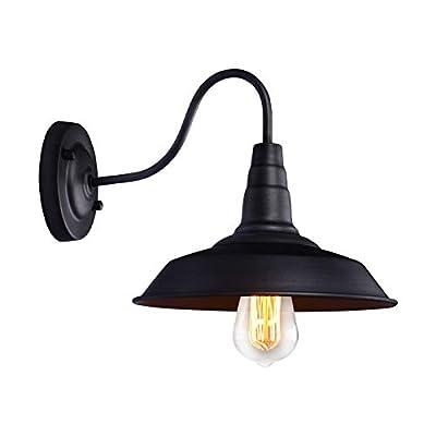 Black Retro Industrial Vintage Semi Flush Mount Ceiling Light 5-Light Metal Hanging Fixture Fan Style Metal Cage Pendant Lighting for Indoor