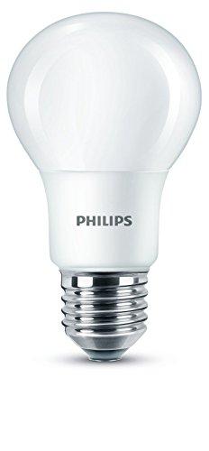 Philips Lighting Lampadina LED Luce Bianca Calda Effetto Smerigliato, E27, 5.5 W Equivalenti a 40 W, 2700K, Sintetico