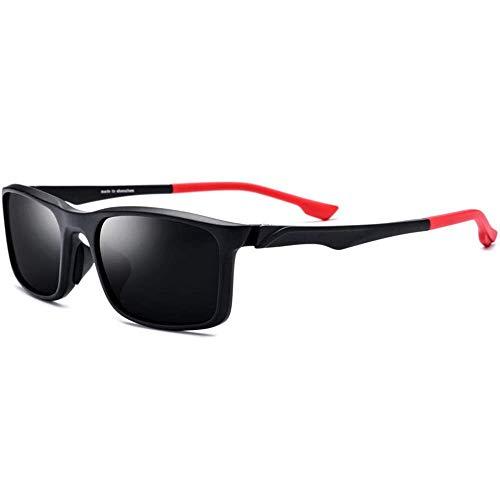 KCGNBQING Gafas de Sol TR90 Sports Outdoor Bicicleta Montar Gafas de Sol Polarizadas Patrones de Color Unisex Piernas Lente Gris UV400 Protección Gafas de Sol de Moda Hombre/Mujer (Color : Red)