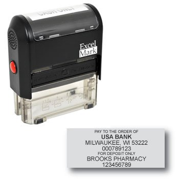 Bank Deposit Stamp with 7 Lines (42A3068)