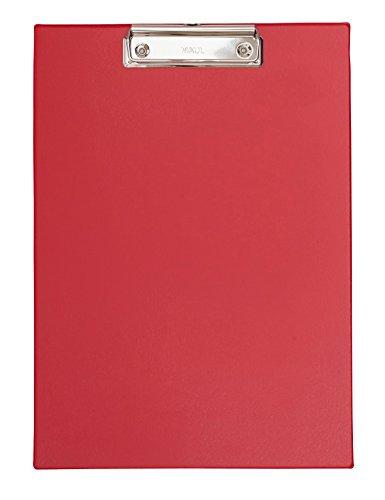 Maul 2335225 Schreibplatte Folienüberzug, Klemmbrett A4 Hoch, Rot, 1 Stück