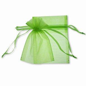 50Organza-Beutel, klein, 7cm x 9cm grün