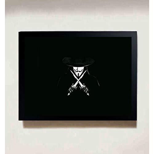 MXIBUN Cartel e Impresiones Vintage V para Vendetta Movie Cuadro de Arte de Pared Lienzo de Pintura Regalo sin Marco 40 * 60 cm