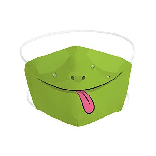 Pekebaby Mascarilla Infantil de tela lavable reutilizable 2 capas + bolsillo con 1 filtro incluido, diseño 010 RANITA, doble ajuste elástico