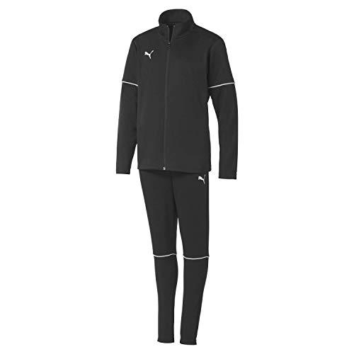 Puma Kinder teamGOAL Tracksuit Core Jr Trainingsanzug, Black White, 152
