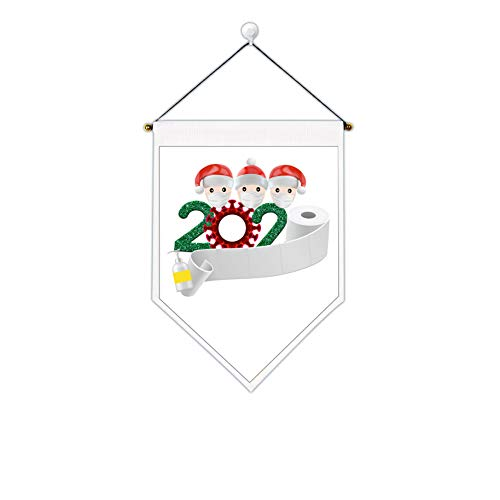 Uspring Christmas Tapestry Xmas Tapestry Santa Claus Tapestry 2020 Merry Christmas Tapestry Saying Goodbye to Quarantine 2020 Wall Hanging for Room (White 3,12.6 x 17.7 inches)