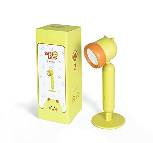 Lámpara de escritorio LED para estudiar estudiante dormitorio infantil noche protección ojos amarillo luz para lectura