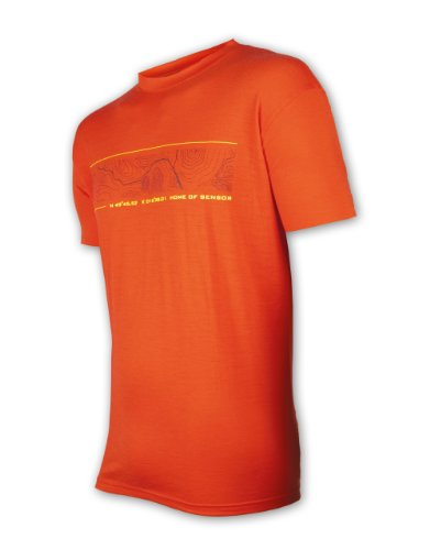 Sensor Merino Active PT tee SS Camiseta, Hombre, Rojo, Large