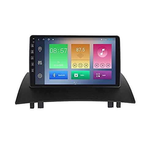 DLL Car Stereo Vehicle GPS Adequado para Renault Megane2 2002-2009 Car Stereo Sat nav Capacitive Touch HD Carplay Radio Multimedia Built-in Radio System Tracker, 8Core 4G + WiFi: 4 + 64G