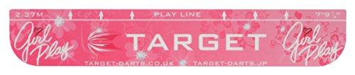 TARGET Girl Play Throw Line Abwurflinie Dartlinie Dartline, Pink