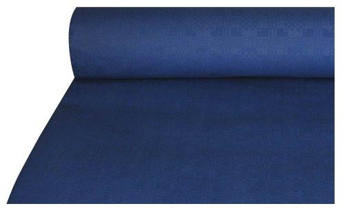 Damasttischtuch 50 m x 1 m dunkelblau Papiertischtuch
