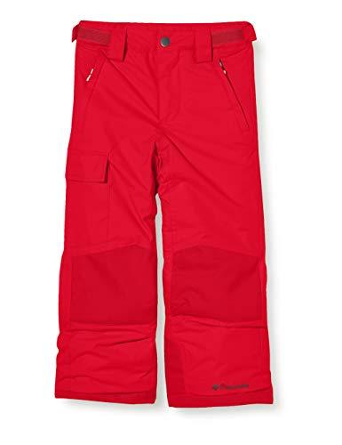 Columbia Bugaboo II Pantalones de esquí, Niños, Rojo (Mountain Red), Talla: M