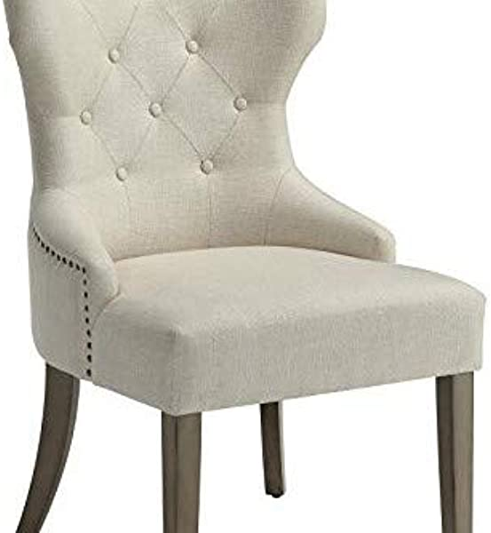 Florence Upholstered Dining Chair With Tufted Back Beige And Brown