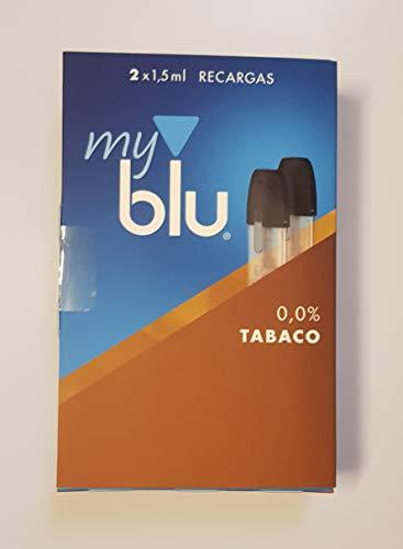 My Blu - Pack 2 Recargas Sabor Tabaco 0,0% NICOTINA - FREE NICOTIN