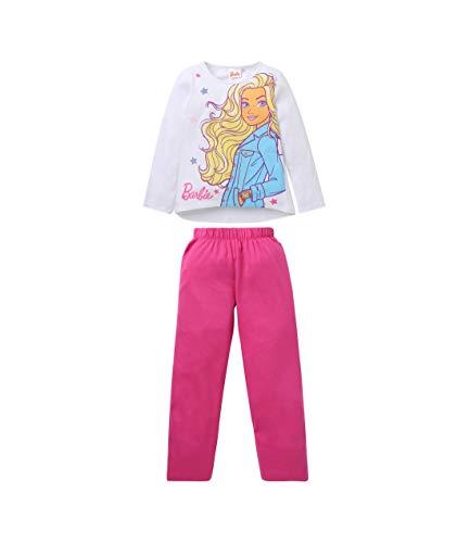 Barbie Mädchen Pyjama Weiß 92