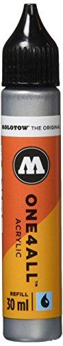 Molotow mo693227Refill one4all, recarga para marcador permanente 30ml 1pieza metálico plata