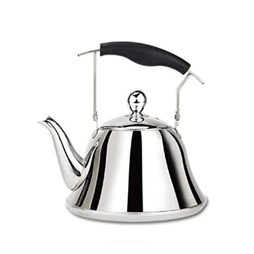 Cafetera de acero inoxidable 304 – Tetera caliente silbato – con diseño de filtro pulido y agujero de arena – Hervidor de gran capacidad para el hogar (4l/5l/6l/7l)