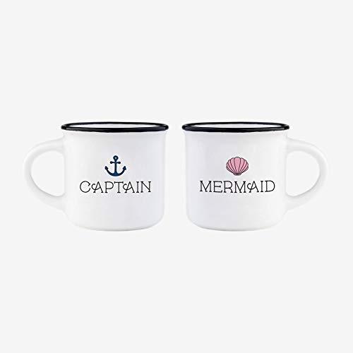 Legami Set TAZZINE da Caffe Espresso Captain & Mermaid