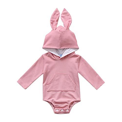 Ropa Bebe NiñA Verano 2020 Pascua ReciéN Nacido Bebé NiñO NiñA De Manga Larga Conejo Conejito Sudadera con Capucha Mono Leotardo Orejitas Lindo