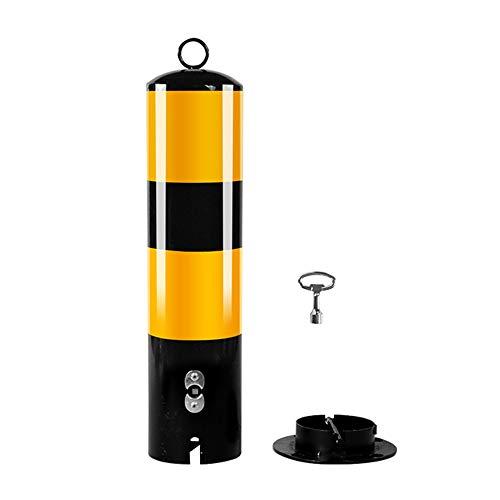 XGGYOOG Absperrpfosten rund Poller zur Sperre von Parkplatz, Einfahrt, Mit Schlüssel & Bolzen/Als zeigen / H50cm