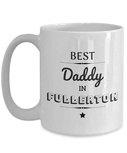 Lawenp ¡El mejor papá en taza de café de Fullerton!   ¡Gran cumpleaños, regalo del día del padre para papás en Fullerton, CA! 11 oz